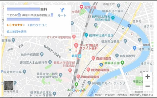 Googleマップの例